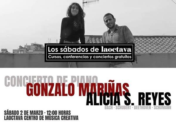 Concierto de piano de Alicia S. Reyes y Gonzalo Mariñas