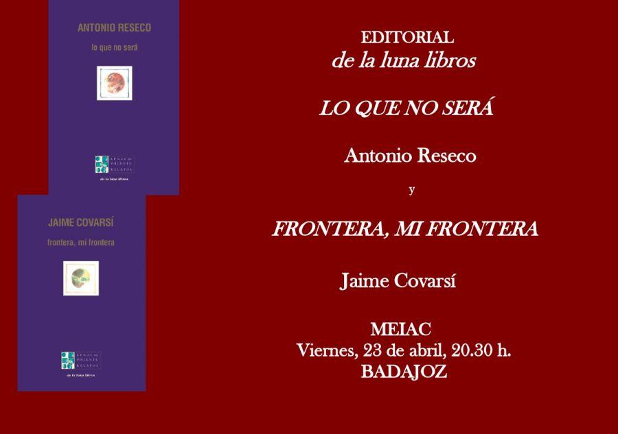 Presentación en en el MEIAC de Badajoz de los libros de Jaime Covarsí  y Antonio Reseco y