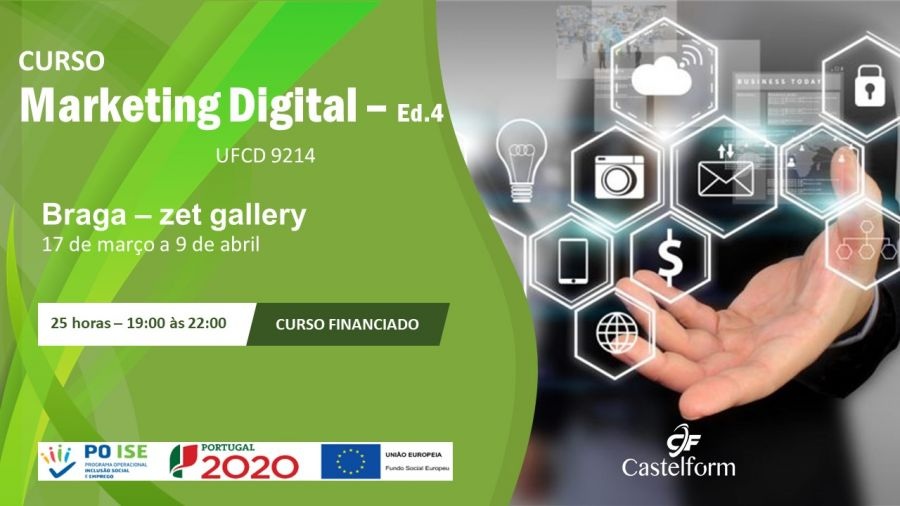 Curso de 'Marketing digital' (UFCD 9214) – 25 horas