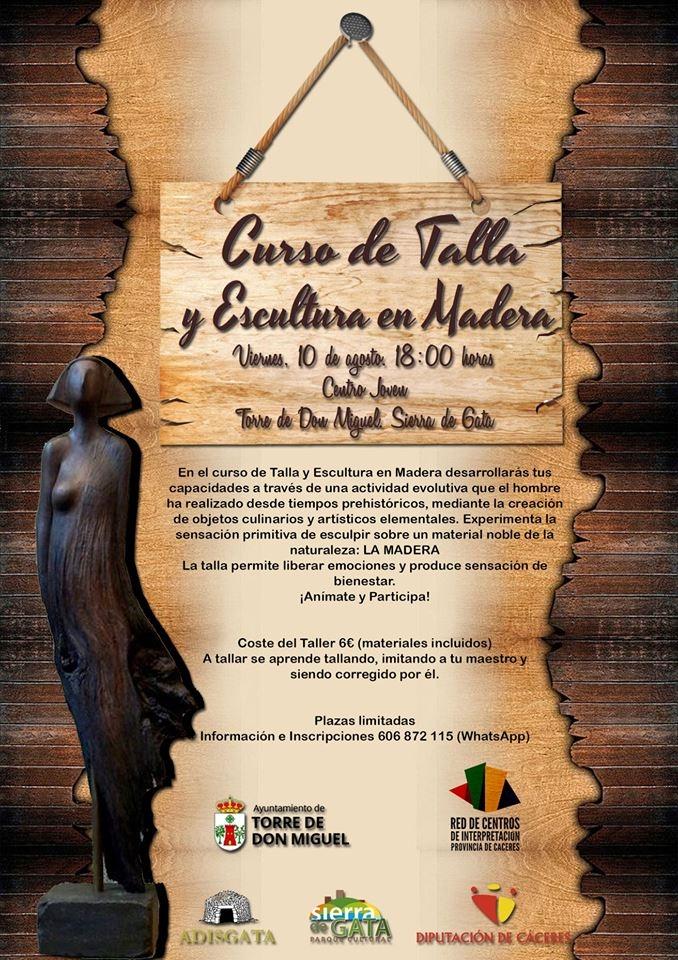 Curso de Talla y Escultura en Madera || Torre de Don Miguel