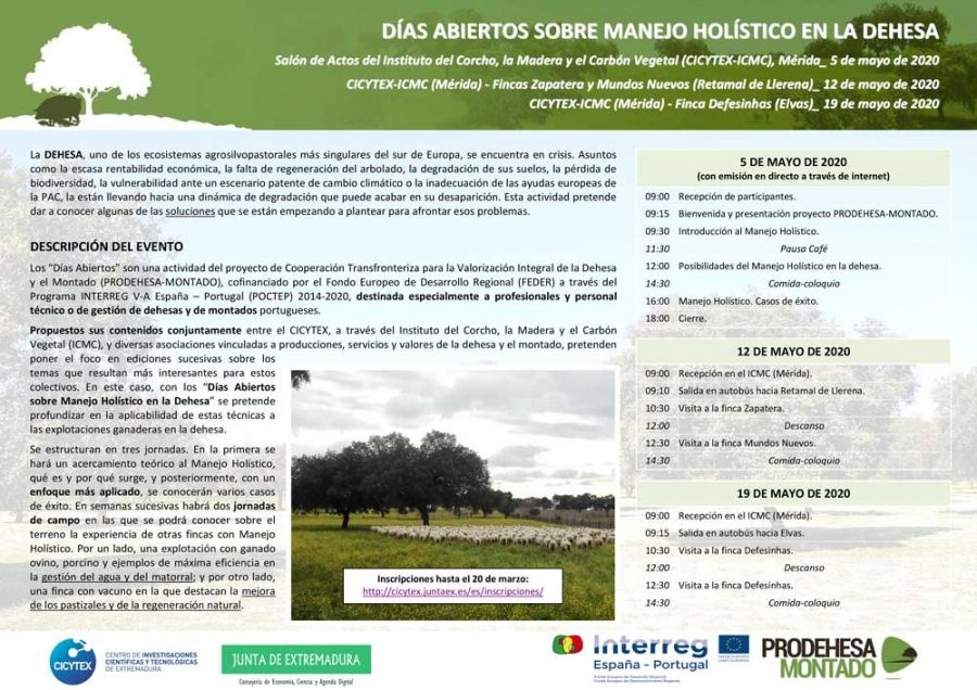 Días abiertos sobre manejo holístico en la dehesa. Elvas (Portugal)