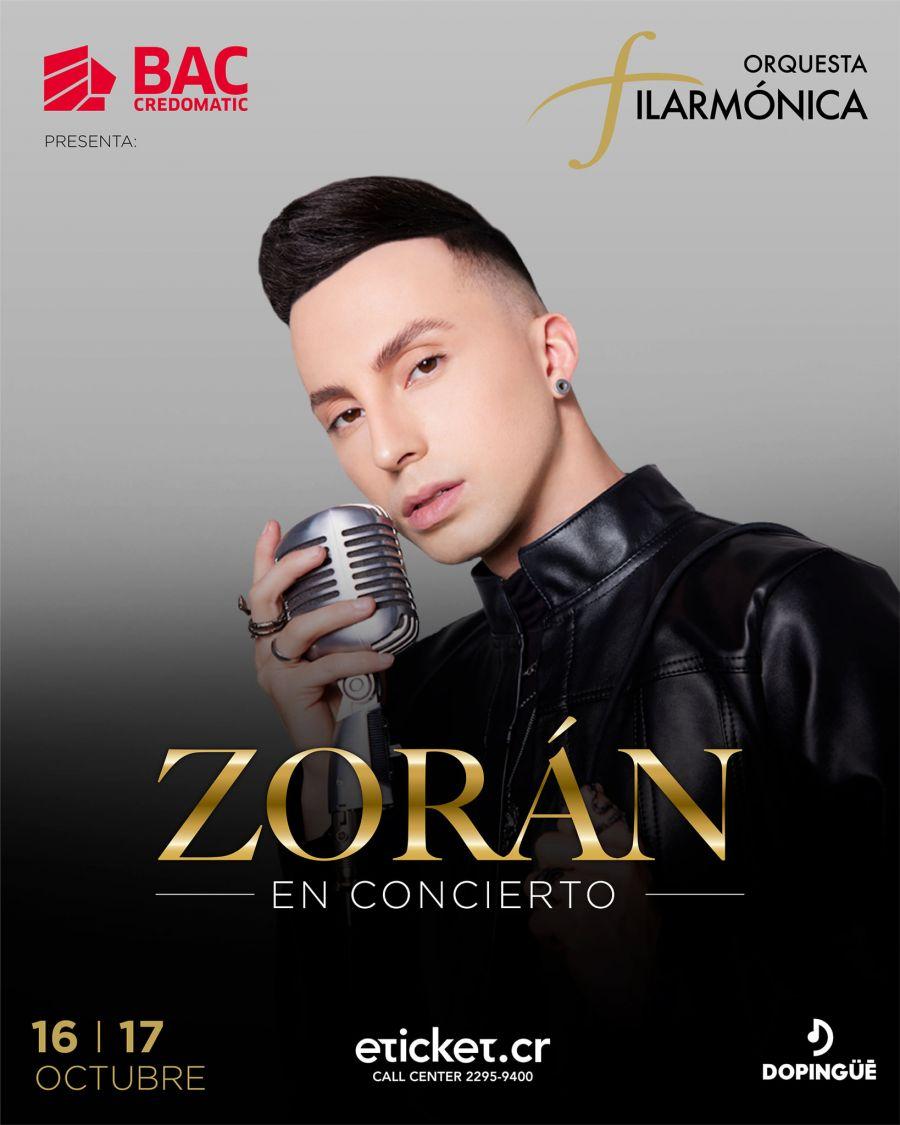 Zoran en Concierto. Orquesta Filarmónica