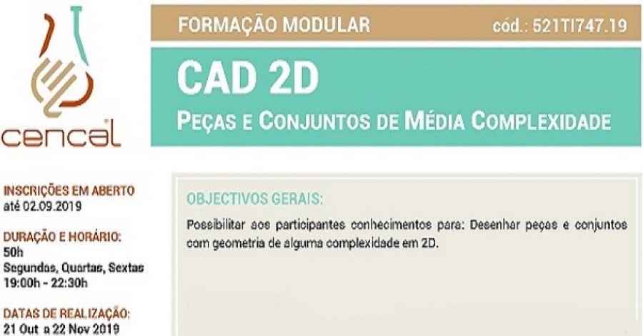 CAD 2D - Peças e Conjuntos de Média Complexidade