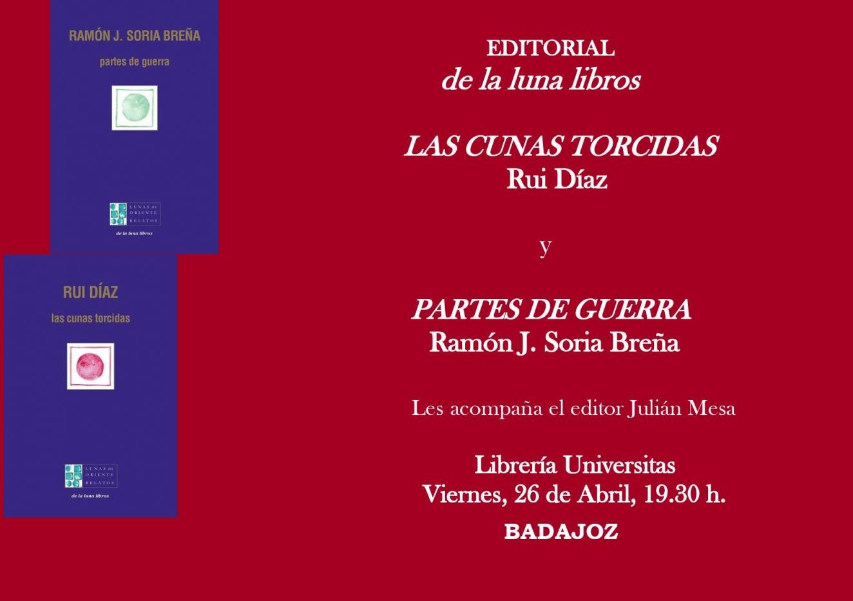 Presentación de los libros de Ramón J. Soria Breña y Rui Díaz en Badajoz