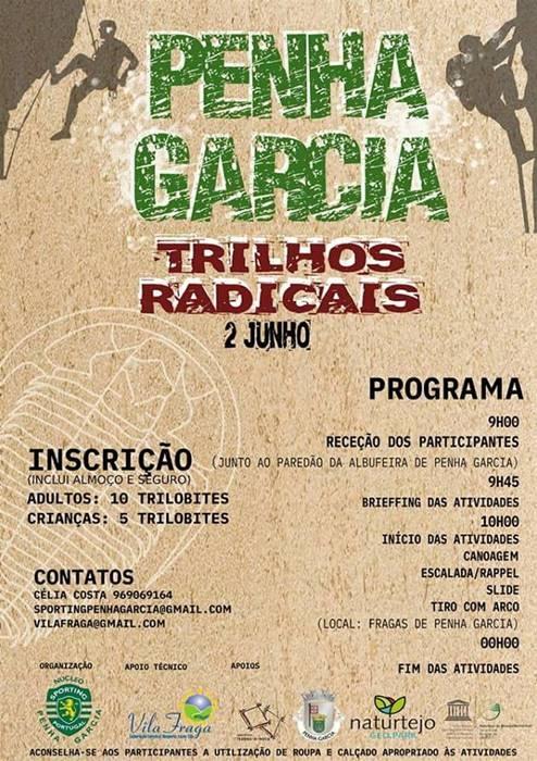 'Trilhos Radicais' em Penha Garcia