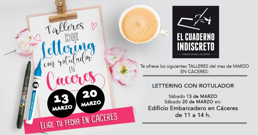 Lettering con Rotulador en Cáceres