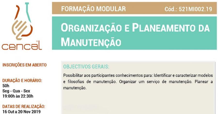 Organização e Planeamento da Manutenção