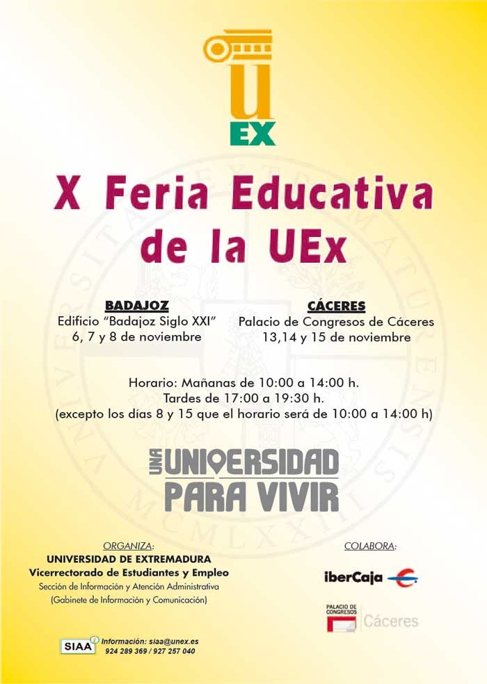 X Feria Educativa de la UEx