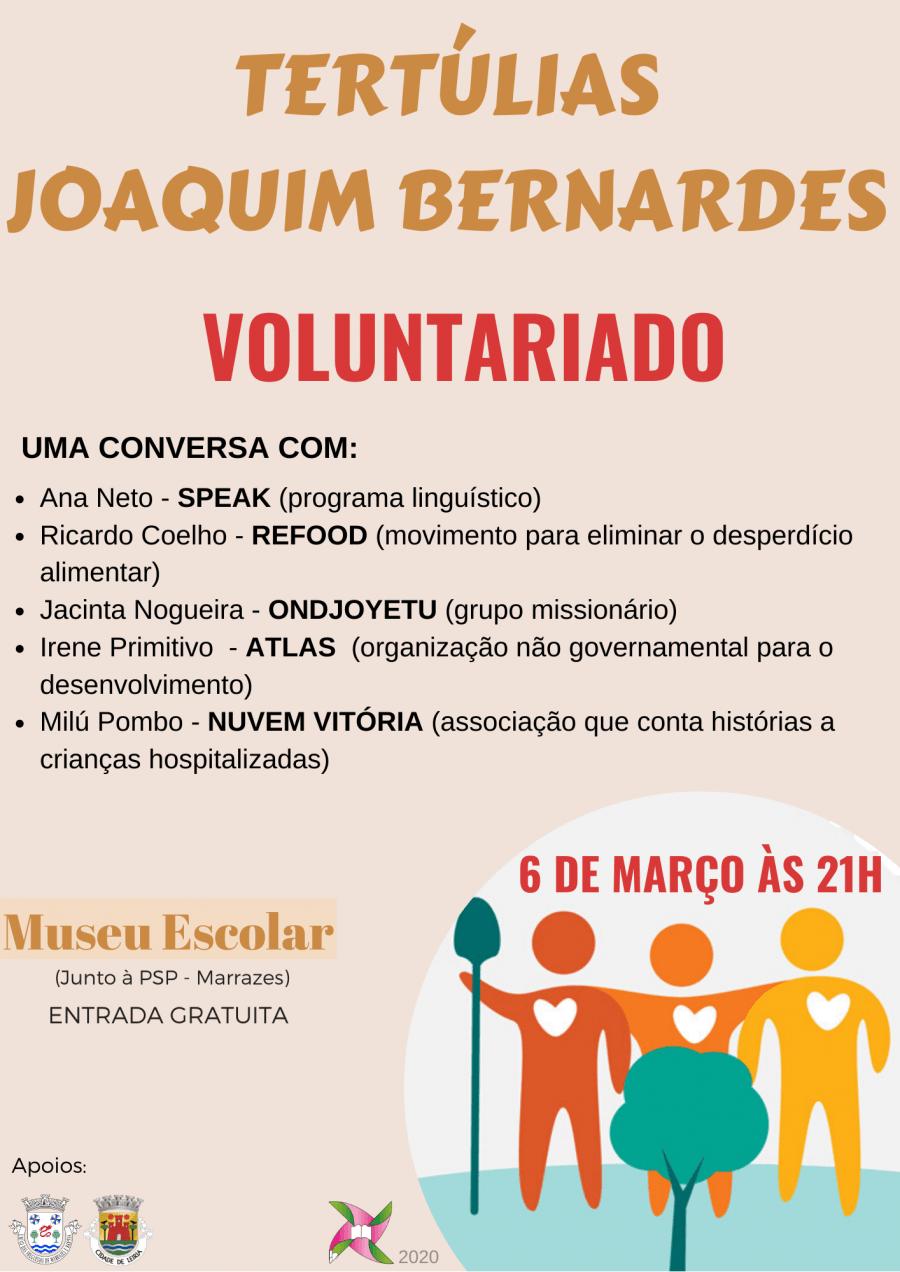 Tertúlias Joaquim Bernardes 'Voluntariado'
