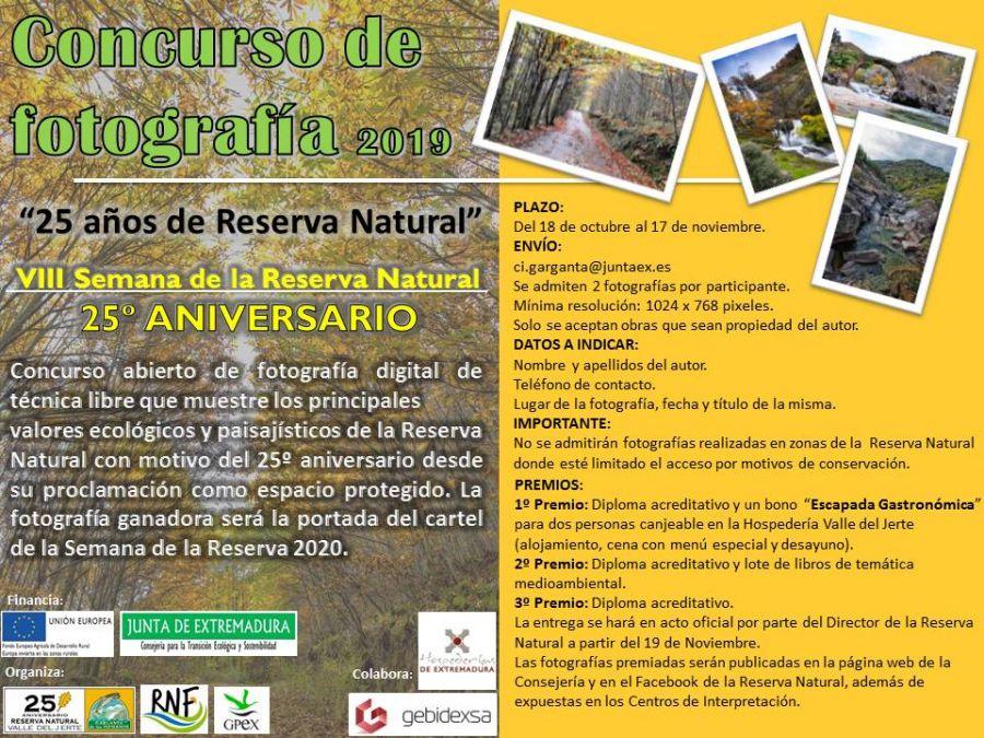 CONCURSO DE FOTOGRAFÍA VIII Semana de la Reserva Natural Garganta de los Infiernos.