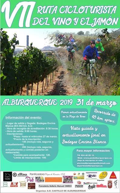 VII Ruta Cicloturista del Vino y el Jamón de Alburquerque