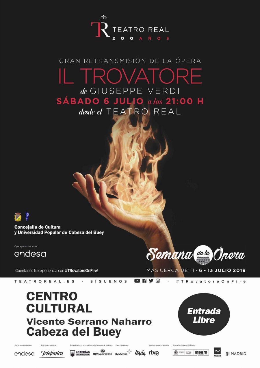 Retransmisión en directo de la Ópera Il Trovatore