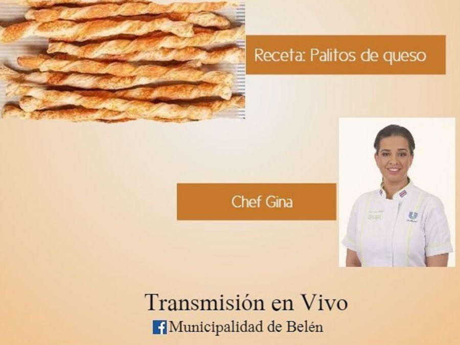 Clase virtual de cocina. Municipalidad de Belén