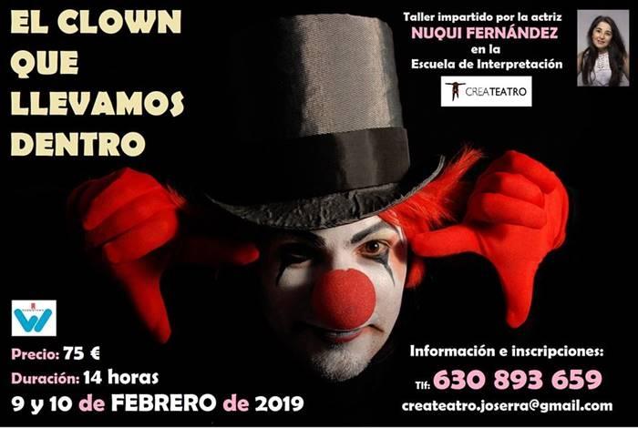 Taller 'El clown que llevamos dentro', con Nuqui Fernández | CREATEATRO