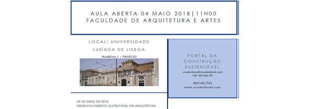 AULA ABERTA | 04 MAIO | FACULDADE DE ARQUITETURA E ARTES DA U. LUSÍADA
