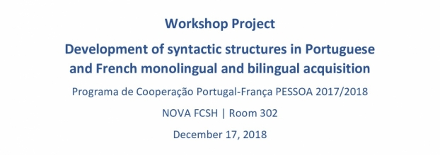Workshop Project Development of syntactic structures in Portuguese and French monolingual and bilingual acquisition
