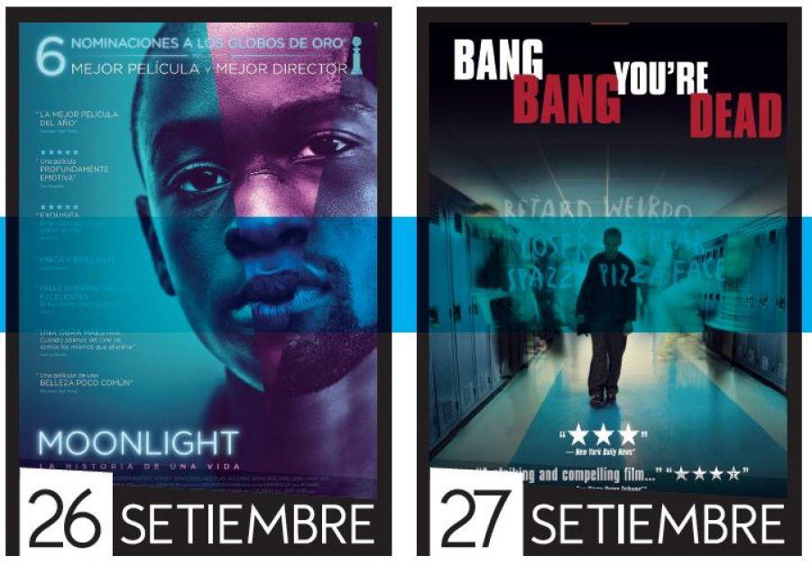 Cine UCR. Desafíos de la juventud. Moonlight & Bang, bang, estás muerto
