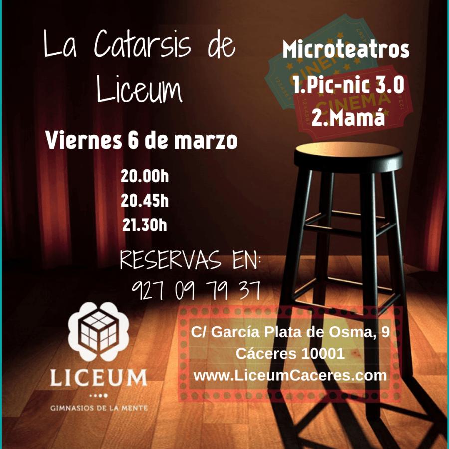 La Catarsis de Liceum. Microteatros