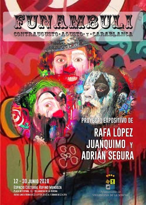 Exposición 'Funambuli. Contragusto, Agusto y Carablanca'