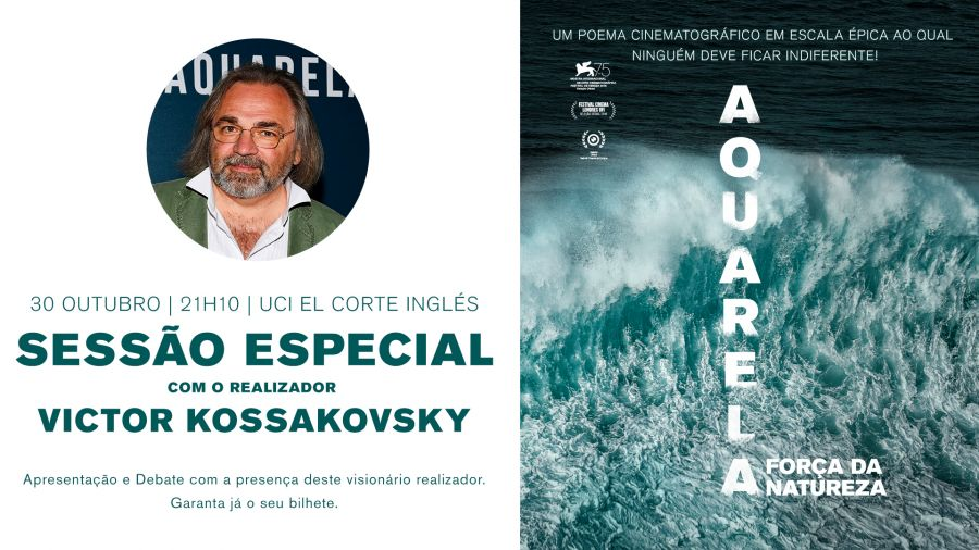 Sessão Especial do filme/ documentário AQUARELA com presença do realizador