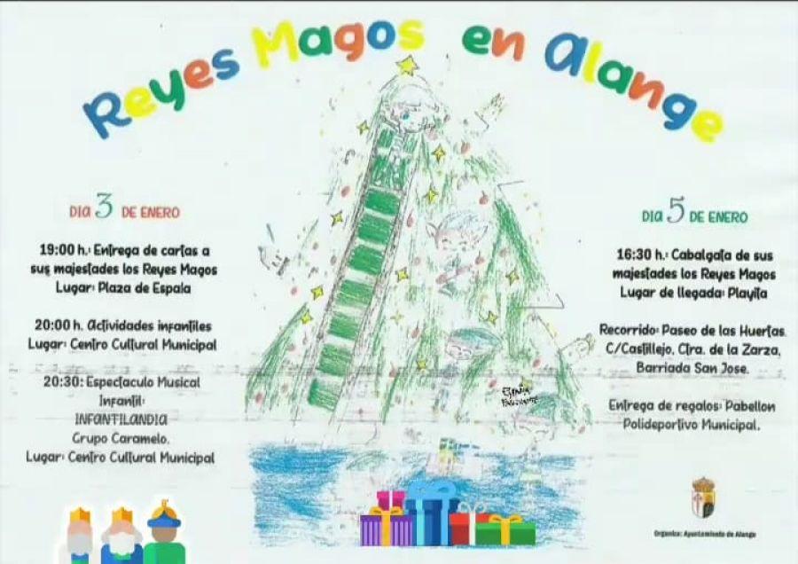 Llegada de SSMM Los Reyes Magos en barca a la Playita de Alange