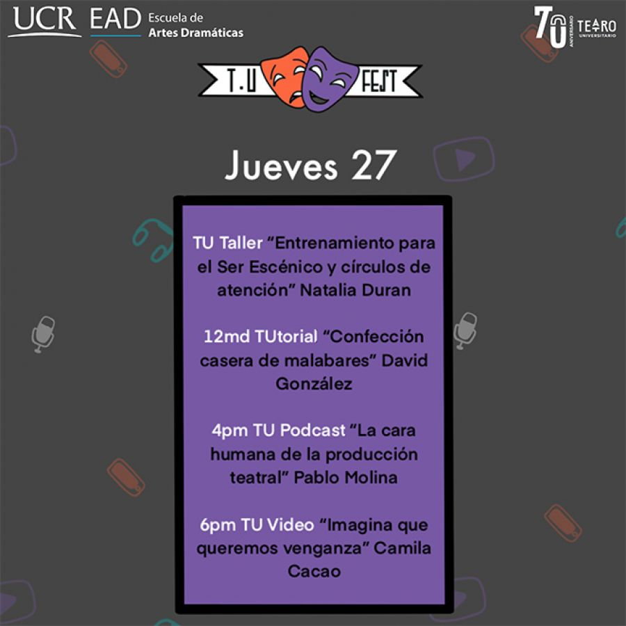 TU Festival Virtual. Día 1