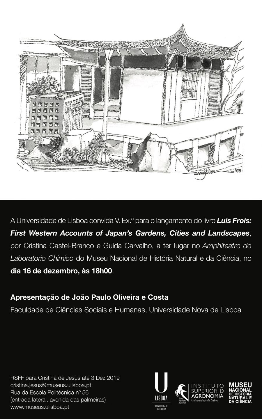 Lançamento do livro 'Luis Frois: First Western Accounts os Japan's Gardens, Cities and Landscapes'
