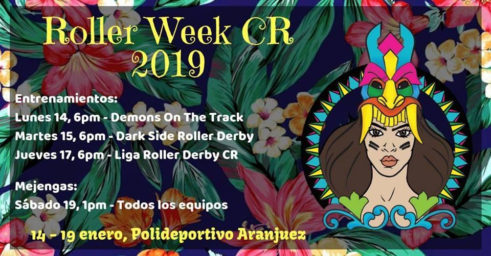 Roller week 2019. Deporte en patines. Roller derby