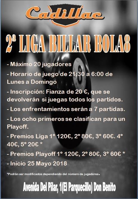 II Liga de Billar Bola8 Cadillac