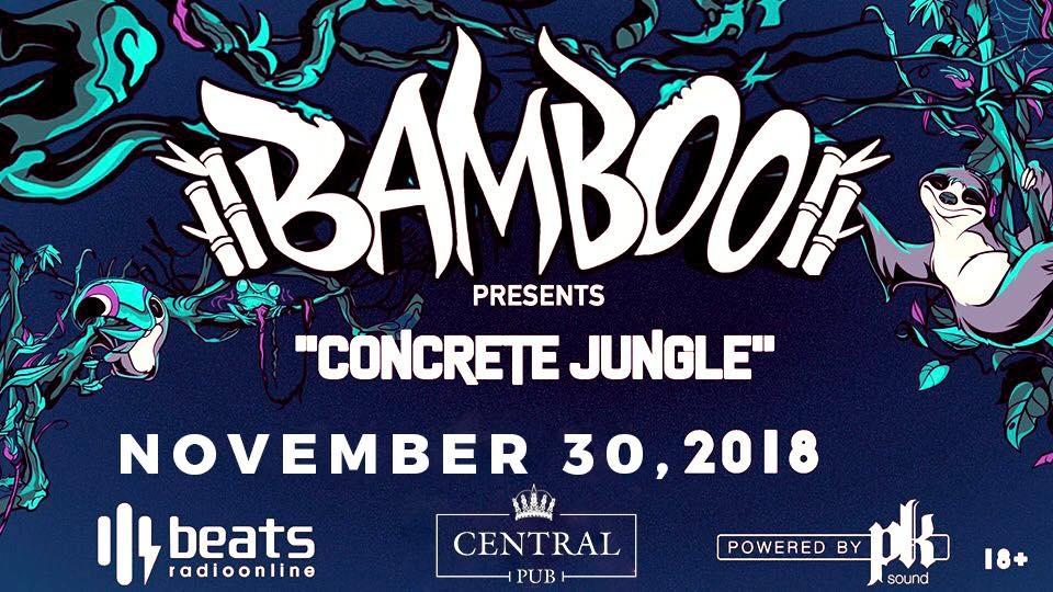 Bamboo presents, concrete jungle Pt2. Secret Headliner, Spitfyah y otros. Basshouse, dubstep y otros Dj set