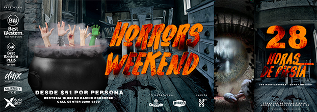 Horrors Weekend, Halloween Bowl. Voodoo Pool Party, Lost Souls Party, Casino Party, DeadPool Cinema