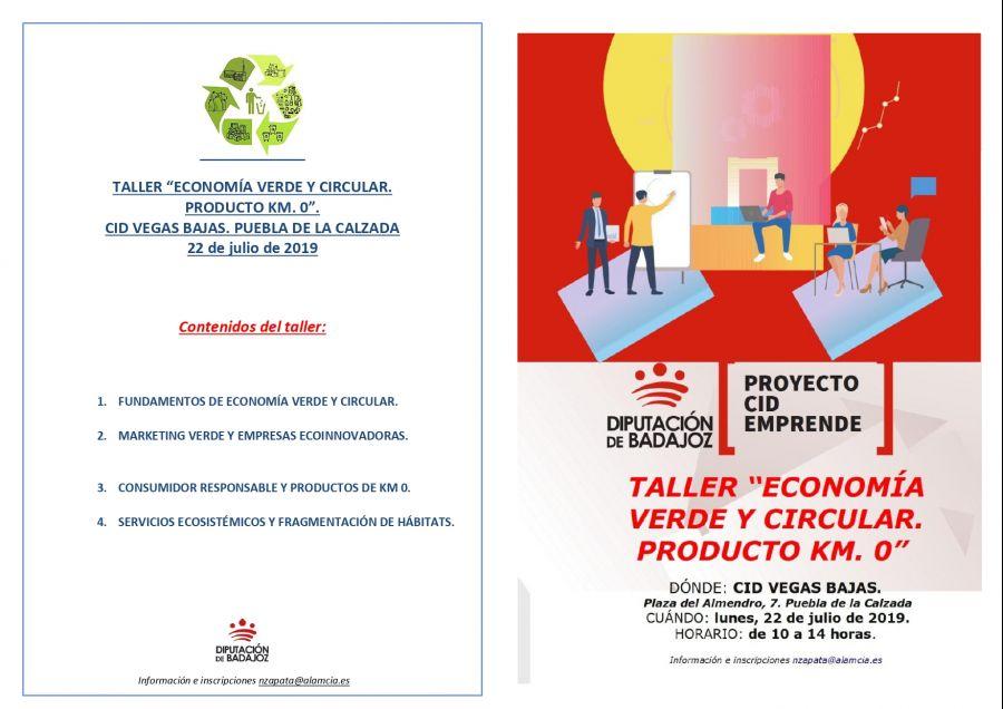 TALLER ECONOMÍA VERDE Y CIRCULAR. PRODUCTO KM. 0