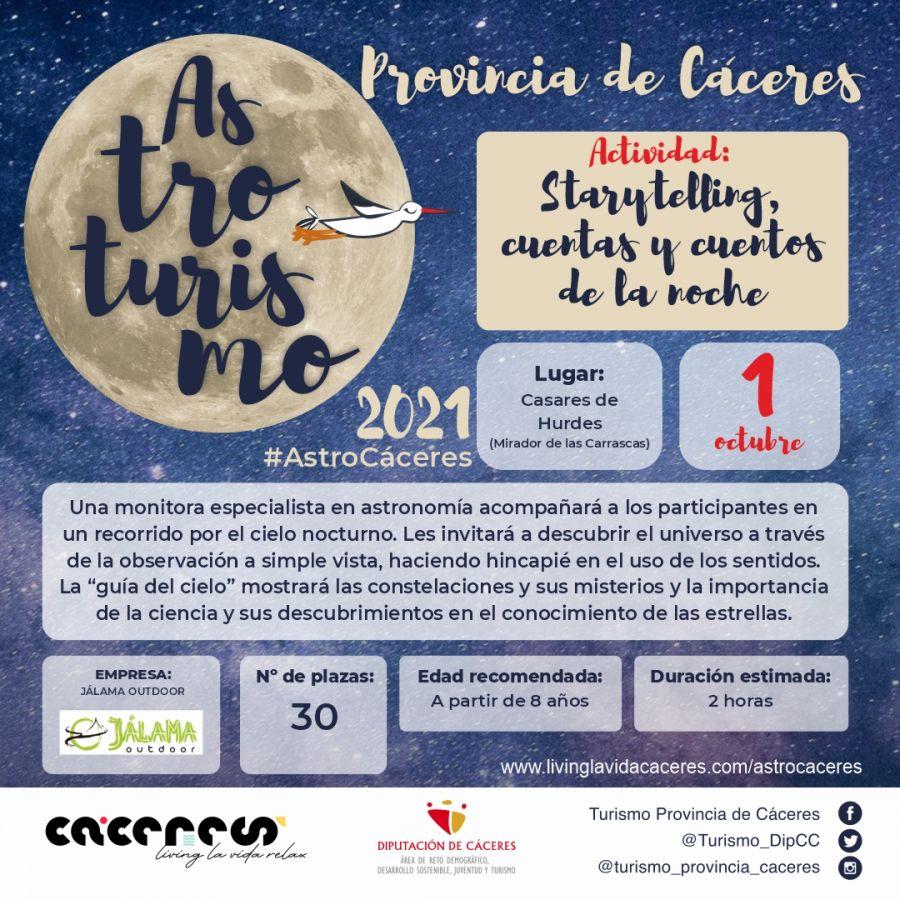 Astro Cáceres 2021   «Starytelling» cuentas y cuentos de la noche ¡Un bello reencuentro con las estrellas
