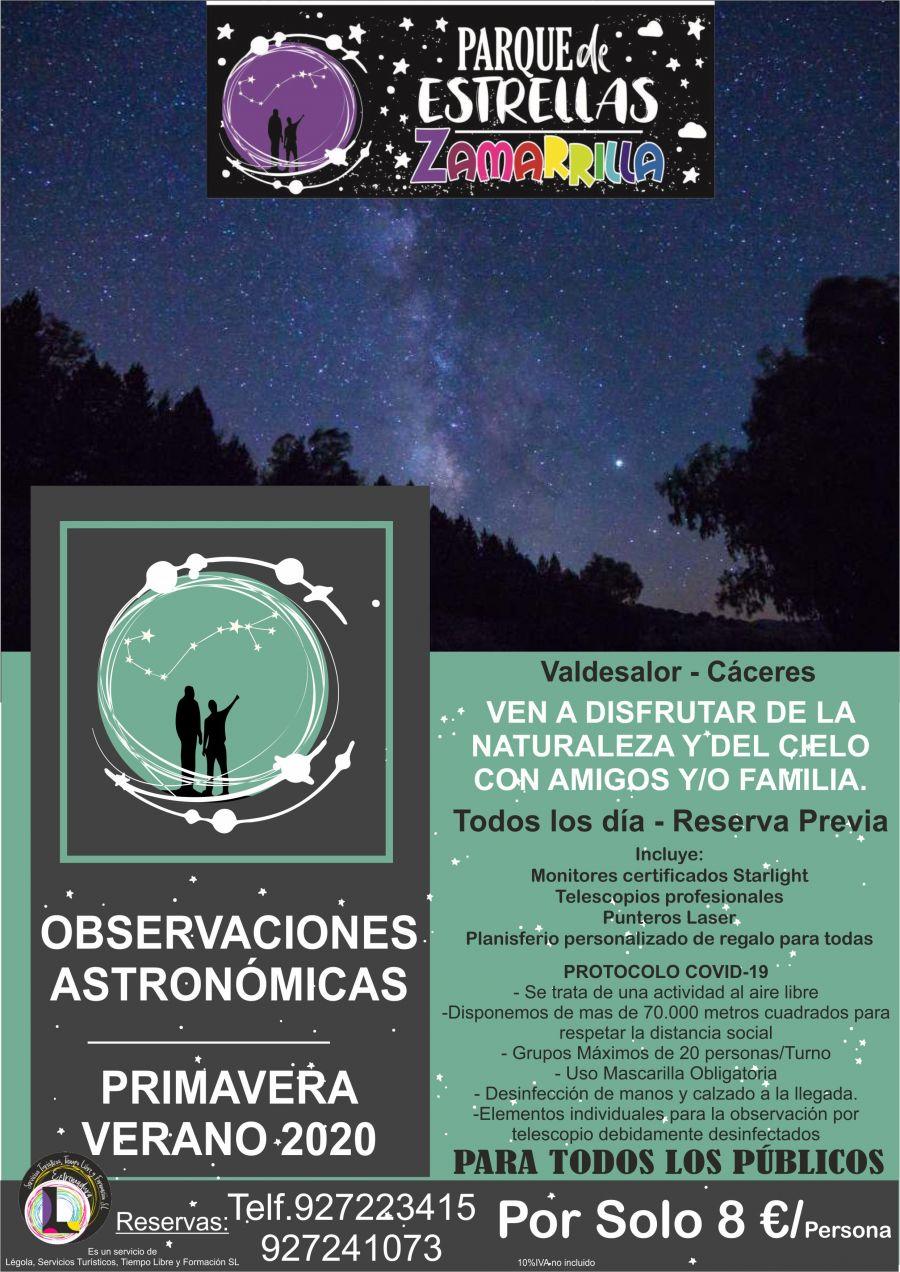 Observaciones del Cielo Estrellado