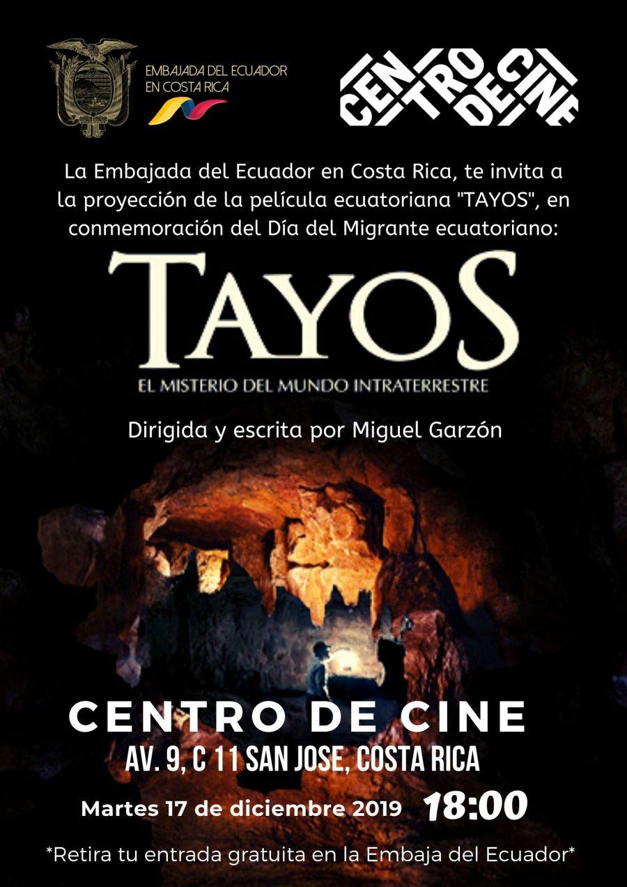 Muestra de cine ecuatoriano. La cueva de los Tayos. Miguel Garzón