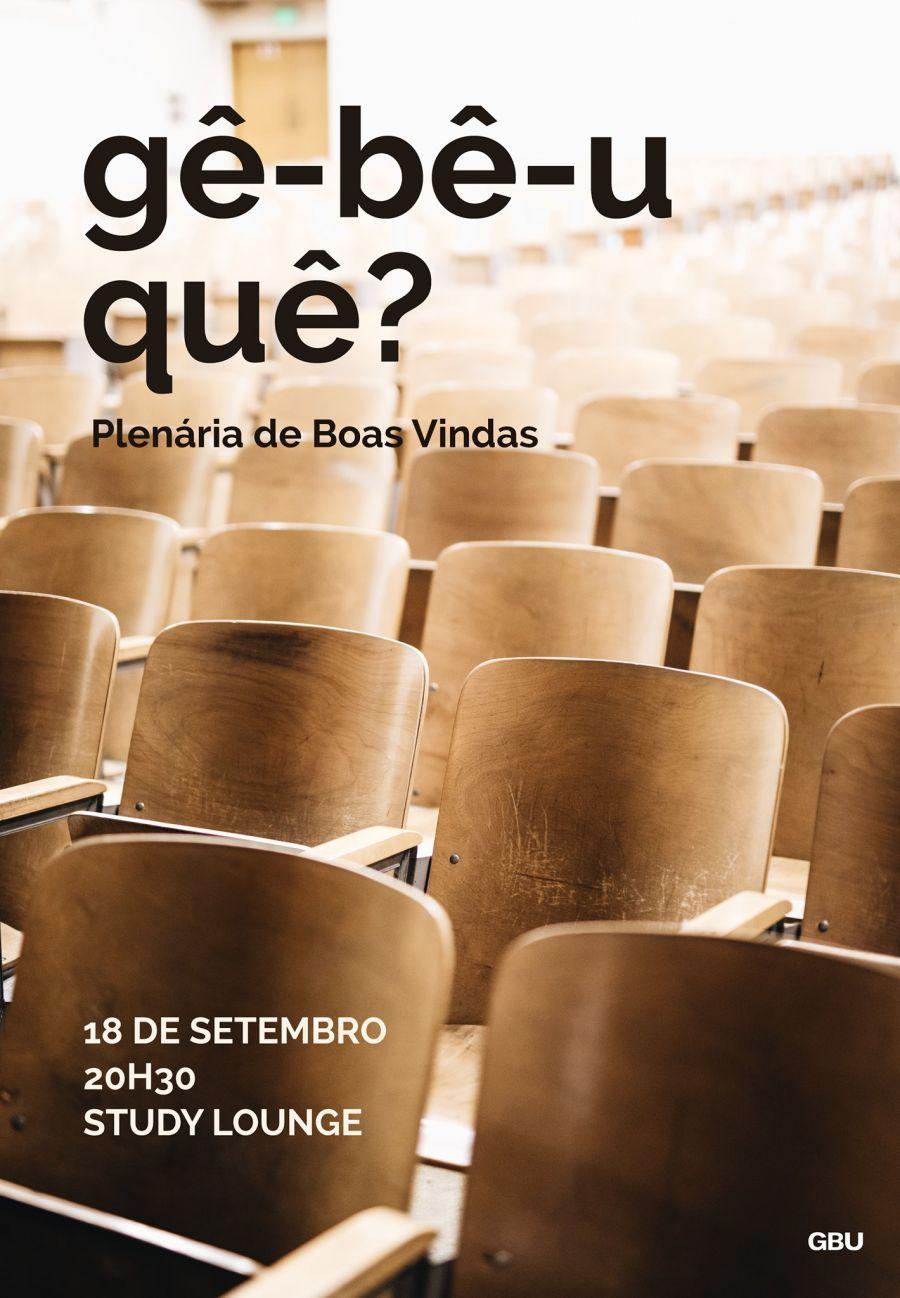 Gê-bê-u quê? - Plenária de Boas Vindas