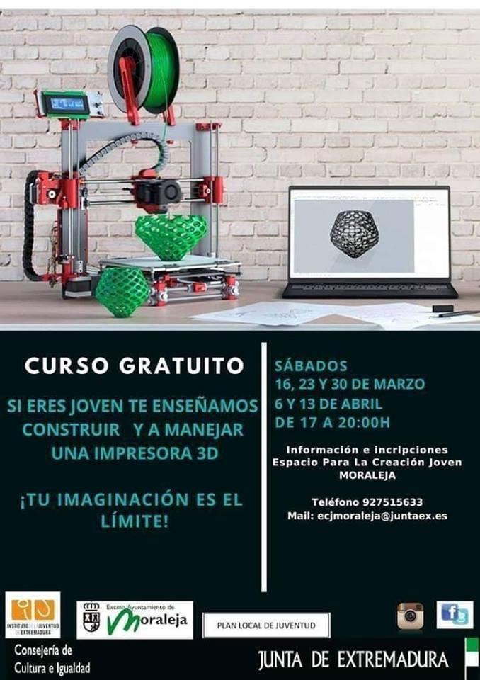 Curso gratuito de impresora 3D // 30 de marzo