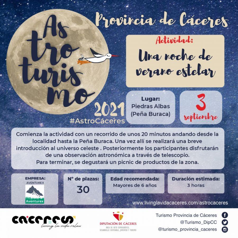 Astro Cáceres 2021   Una noche de verano estelar. Disfruta de nuestro cielo estrellado