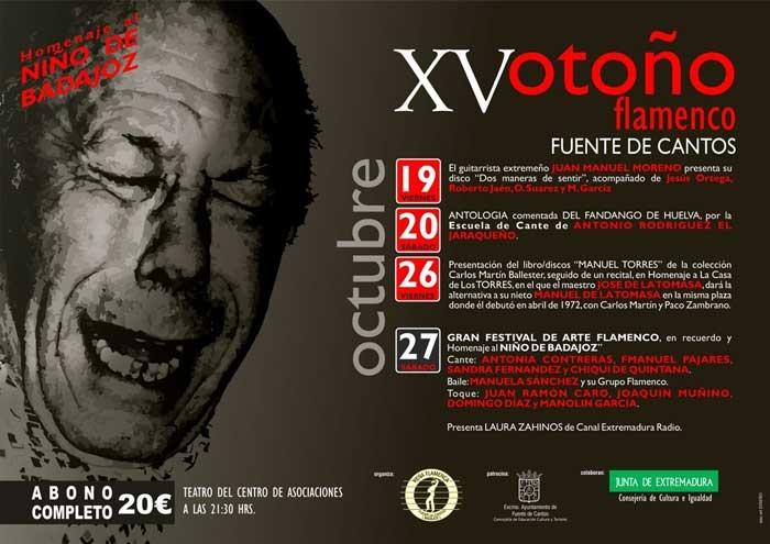 XV Otoño Flamenco de Fuente de Cantos