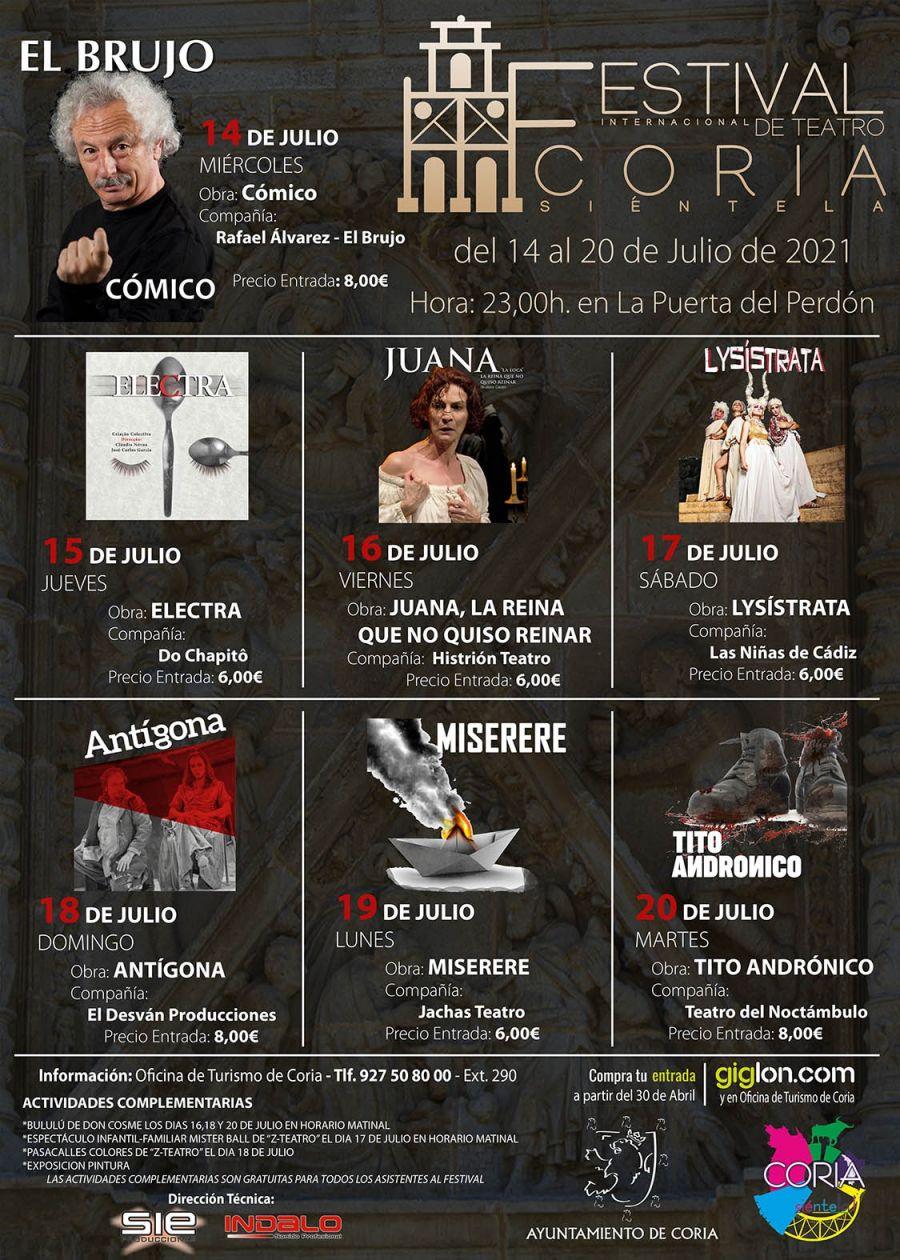 Festival Internacional de Teatro Coria Siéntela