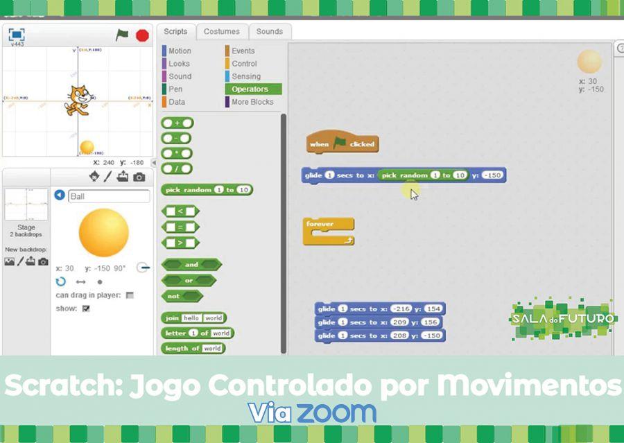 Workshop: Scratch - Jogo Controlado por Movimentos