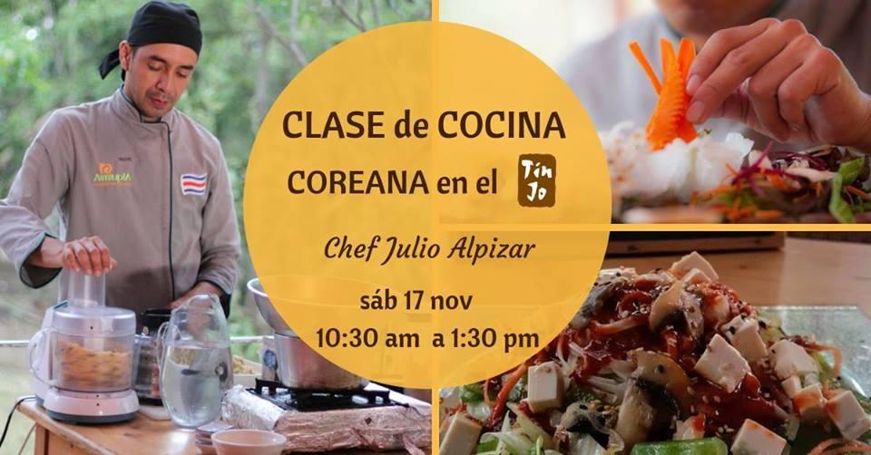 Clase de cocina. Chef Julio Alpizar. Comida coreana