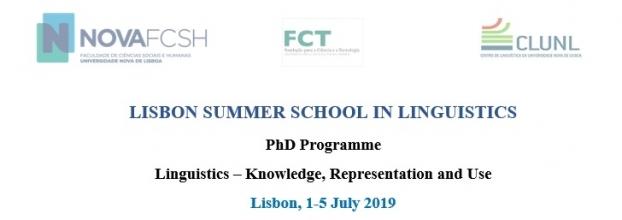 Lisbon Summer School in Linguistics 2019