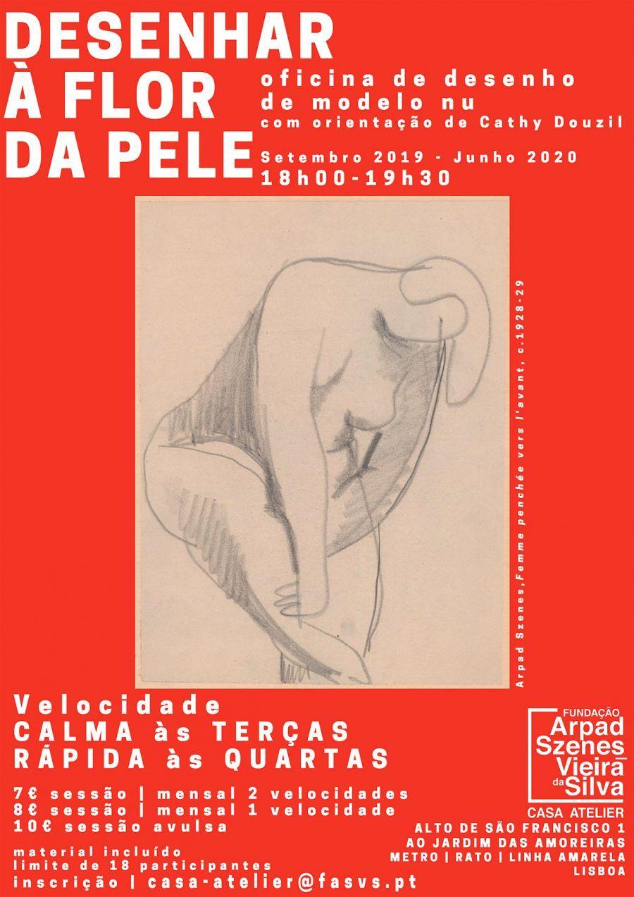 Desenhar a Flor da Pele, desenho regular de modelo nu