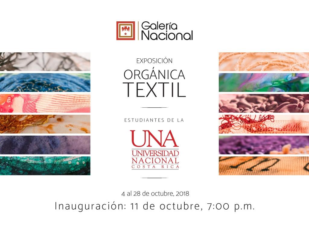 Inauguración. Orgánica textil. Estudiantes de la UNA. Arte textil