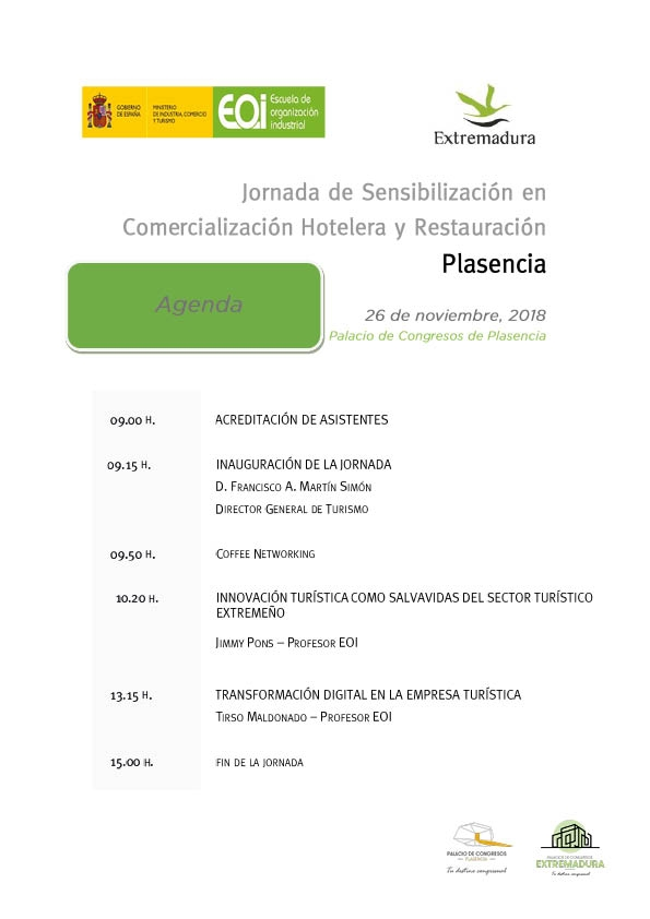 Jornadas de Sensibilización en Comercialización Hotelera y Restauración