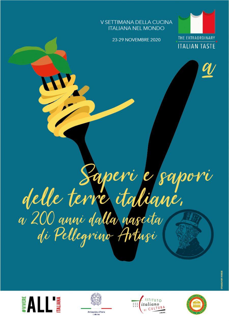 V Semana da Cozinha Italiana no Mundo em modalidade online com o INSTITUTO ITALIANO DE CULTURA de Lisboa