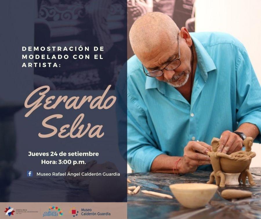 Demostración de modelado con Gerardo Selva Godoy. Vía Facebook