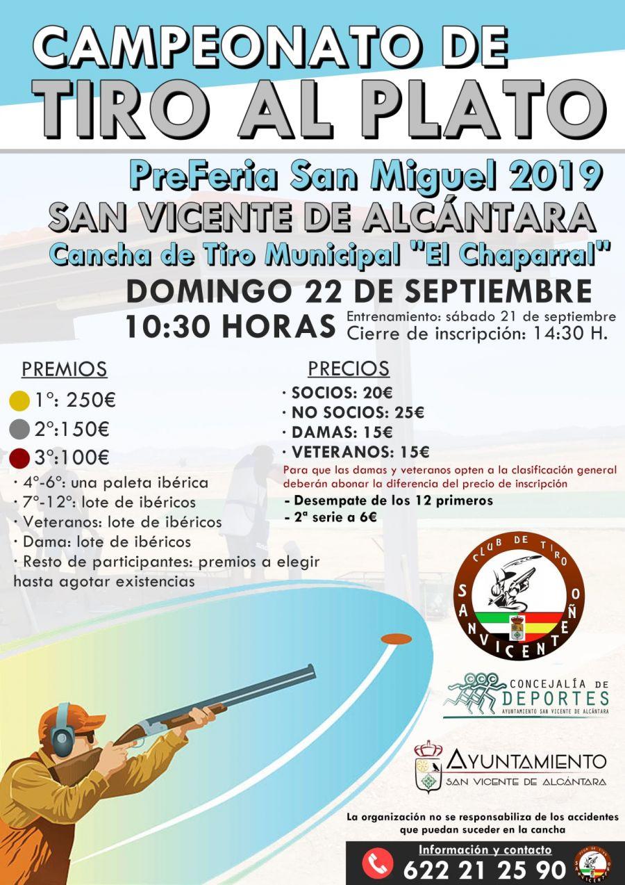 CAMPEONATO DE TIRO AL PLATO 'PreFeria San Miguel 2019'