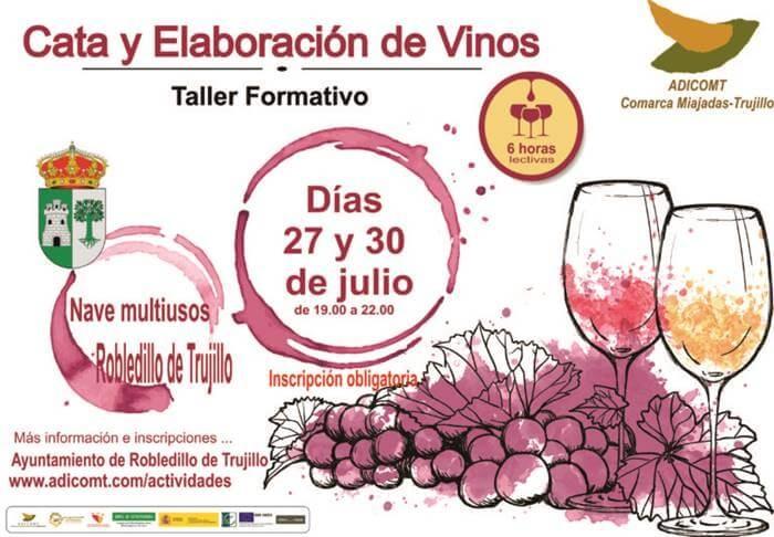 Talleres sobre cata y elaboración de vinos en la comarca Miajadas-Trujillo || Robledillo de Trujillo